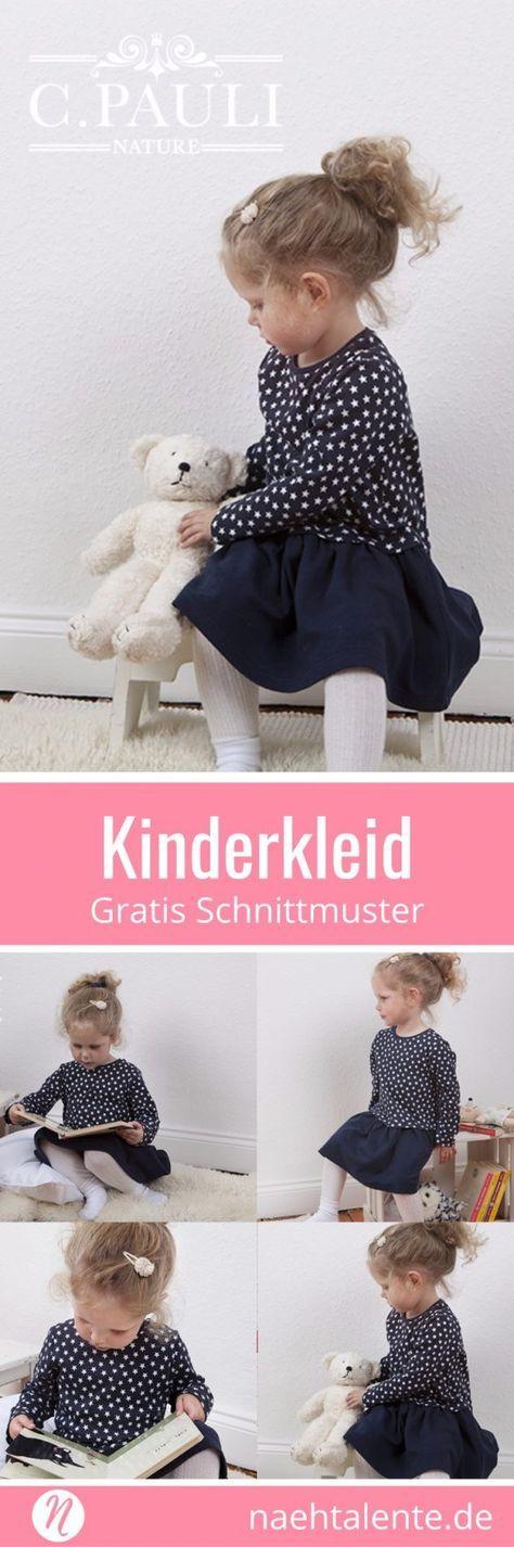 Kinderkleid mit Kräuselrock – Freebook