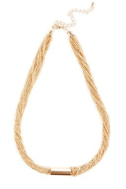 This short multi row necklace features a high-shine finish, metal cylinder charm and an adjustable lobster clasp. Chain length: Chain length: 7.5 to 9 inches. 16 to 19.5 inches.Fabric: Main: 60.0% Steel #WAREHOUSEWISHLIST