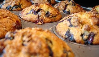 Muffins bleuets et avoine #recettesduqc #muffin #bleuets
