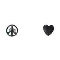 Mimi + Marge Studded heart earrings GkwN1TD5i