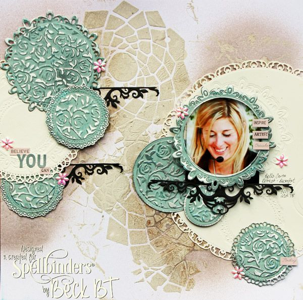 Believe You Can Scrapbook Page by Beck Beattie