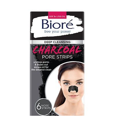Biore Deep Cleansing Pore Nose Strips Charcoal 6 Count (2…