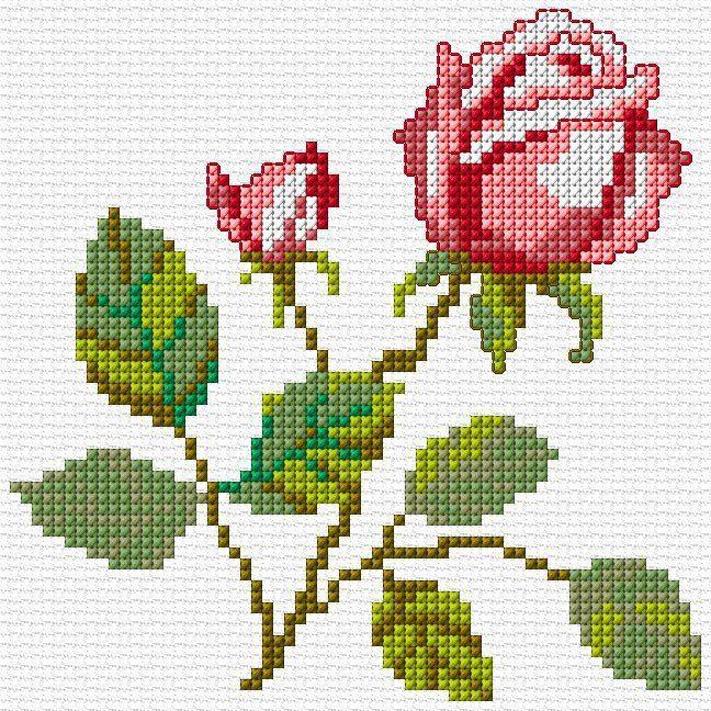 einfache Rose