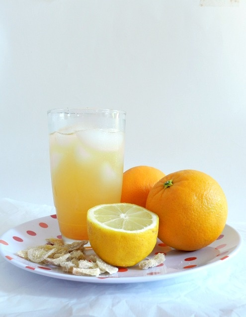 Ginger orange lemonade. (you had me at ginger)