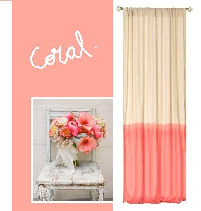 Coral Tie dye panel by Ohanahomedecor on Etsy