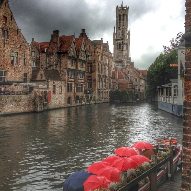 A rainy day in #Bruges. Photo courtesy of myriesh on Instagram.