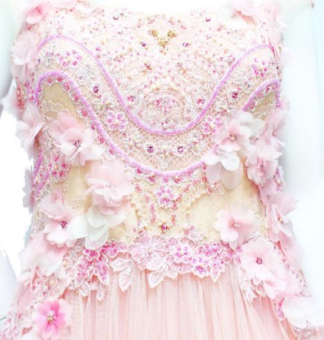 Floral and Pearls Embellishment