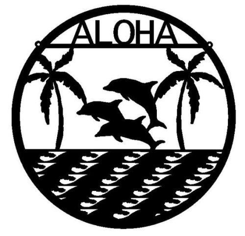 Aloha Metal Wall Art (M4) by Rusty Rooster Metal. $39.67. At Rusty Rooster Metal all of our products are Made to Order!   This item is cut out of 16 gauge steel using a CNC machine with a plasma cutter, giving it incredible detail while still allowing it to retain its strength. Than we Powder coat every piece of art for a virtually indestructible art piece. Our products can be placed outside without the fear of fading or rusting. We use recycled card board for our packaging.  Re...