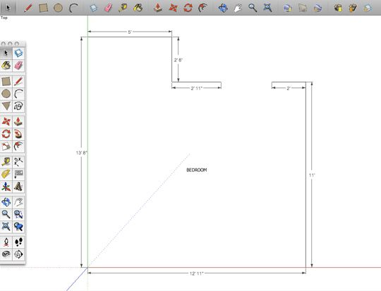 How to use Google Sketchup for floorplans (hoping I can start there and use it to render furniture.)