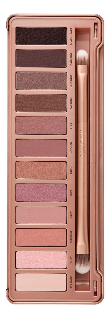 Swooning over the rose-hued neutrals and the variety of matte and shimmering pink shades | Urban Decay 'Naked 3' palette.