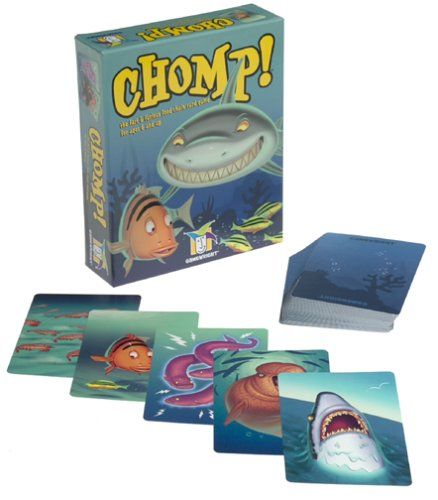 """In this game modeled after the classic card game War, players """"chomp"""" their way to the top of the food chain by collecting all the cards to win the game. Players split the deck evenly, then each p..."""