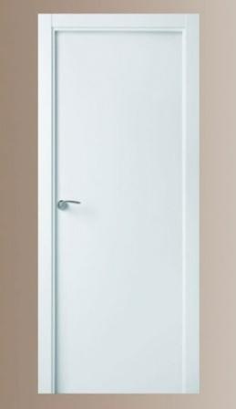 Puerta de interior lacada blanca lisa, maciza, valencia