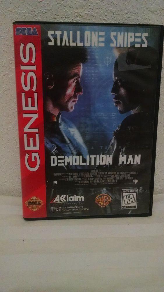 Demolition Man Sega Genesis NO Manual #SEGA