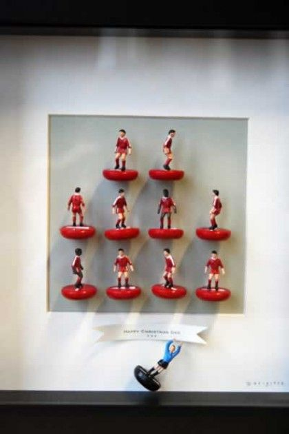 Football Team Pictures with Bespoke Banner Message