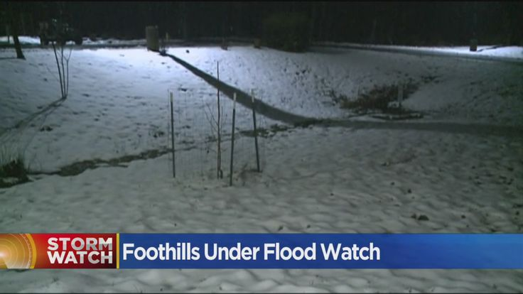 Nevada City and Grass Valley are under a flood watch until Thursday morning. Roughly 2 to 4 inches of rain is expected below the snow line. Over the next seven days there could be up to a foot of rain.