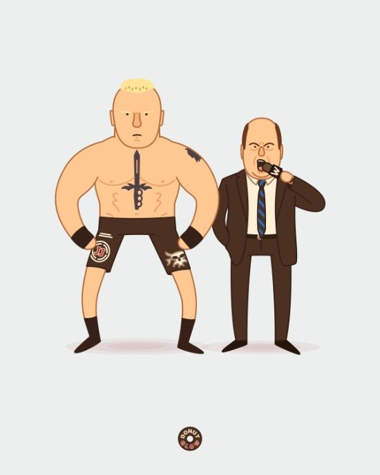 Brock Lesnar & Paul Heyman (WWE) by @donutglow