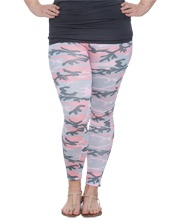 Pink Camo Print Legging