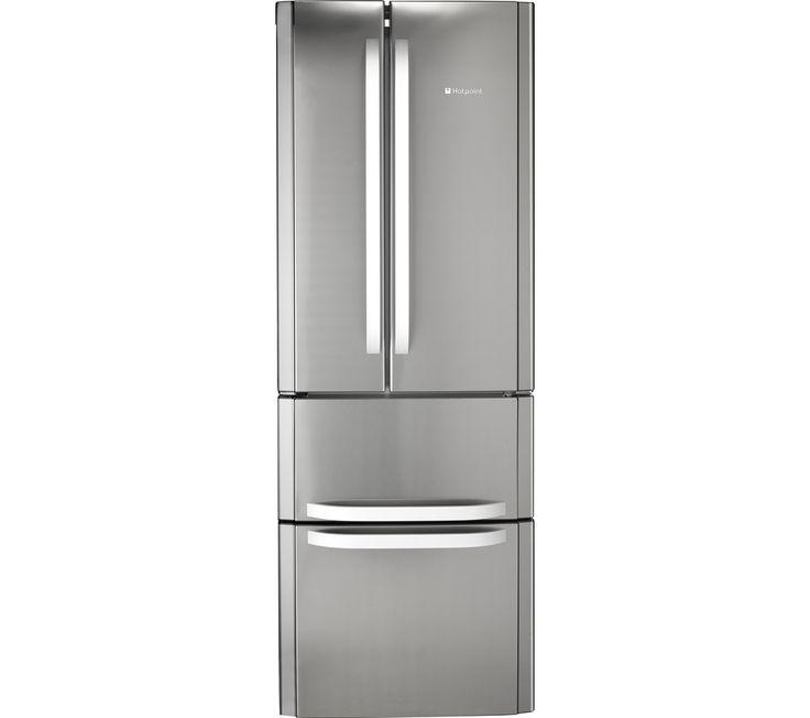 HOTPOINT FFU4DX Fridge Freezer - Stainless Steel ice maker