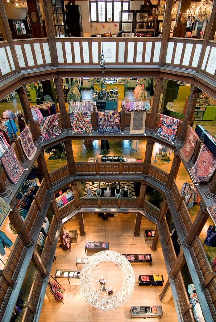 Liberty--unforgettable interior of the Regent St., London store.