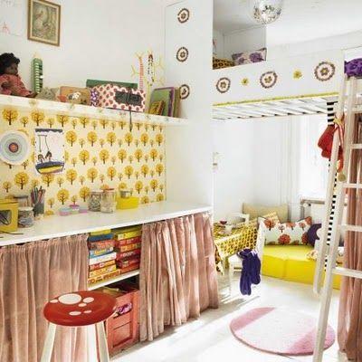 Playful playroom! (2 of 3): Hidden Storage, Kids Bedrooms, Fun Kids Rooms, Kids Spaces, Child Rooms, Cool Kids Rooms, Desks Ideas, Vintage Inspiration, Desks Spaces
