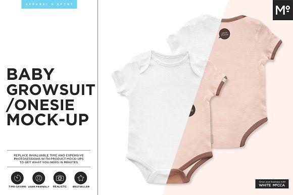 Baby Growsuit/Onesie Mock-up by mesmeriseme.pro on @creativemarket
