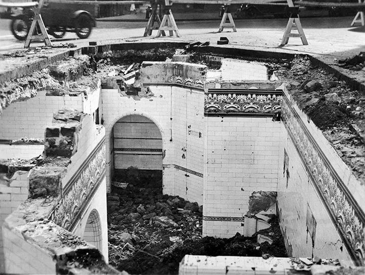 The remains of the men's public toilets in from of the Queen Victoria Building.The area is now buried under tonnes of cement.Photo from Dictionary of Sydney.A♥W