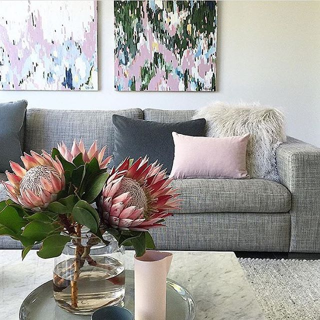 Living room perfection by @littlelibertyrooms, featuring two of @jaivasicek's artworks from our recent PRISM exhibition... such a thrill to see the beautiful homes these pieces end up in . #fentonandfenton #prismfentonandfenton #interiors #jaivasicek