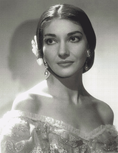 Maria Callas - one of my favorite opera singers - such a beautiful voice!