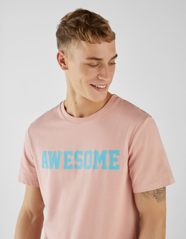Polos Y Camisetas De Hombre Otoño Invierno 2018 Bershka Camisetas Hipster Camisetas Personalizadas Remeras Estampadas