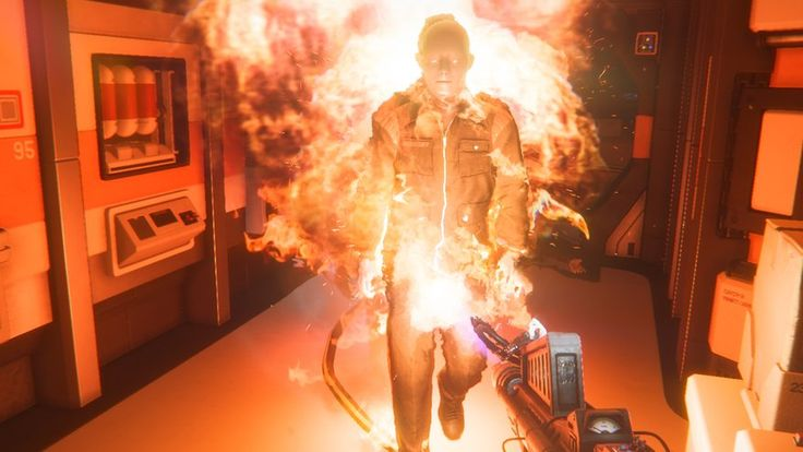 """Alien: Isolation """"BURN YOU ANDROID!!"""" Oh my gosh I hate those guys."""