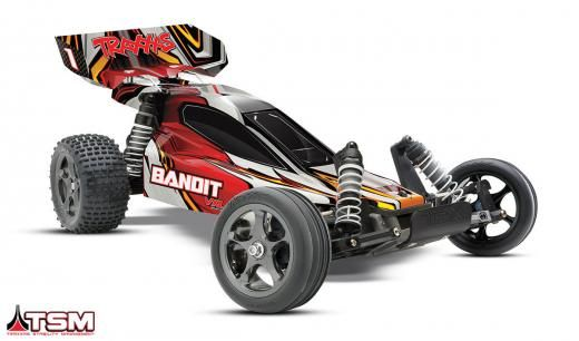 Traxxas 24076-3 Bandit Vxl Brushless 1/10 Rtr 2wd Buggy W/radio/batt/chrgr - Red Multi-color Ready To Go/rtr/rtf (all Included) 1:10 Hobby Grade Electric Taiwan