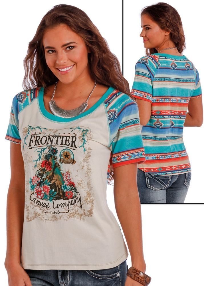 Style#: L9T1547. Southwest Serape Sleeves and Back. Eye-catching patterns throughout Panhandle Slim reflect bold spirit. From trendy hipster shirts with flattering tailoring and spiced-up styling to classic ladies summer wear, Panhandle Slim sets the trends in women's fashion. | eBay!