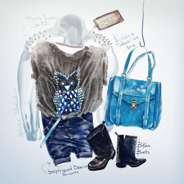 Outfits by Natasha Shaloshvili, via Behance