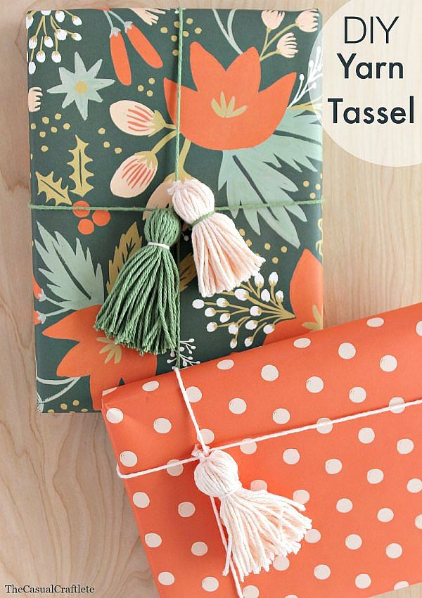 DIY Yarn Tassel a great addition to packaging | #diy #tassel #wrapping #packaging