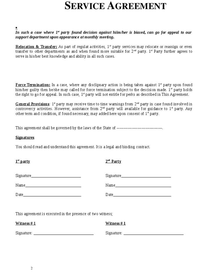 Free Service Agreement Template More Consignment Agreement