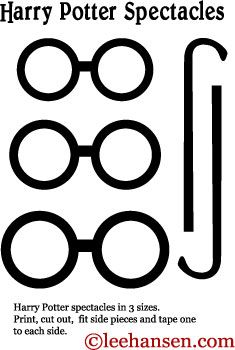 Printable Harry Potter Eyeglasses Craft Template