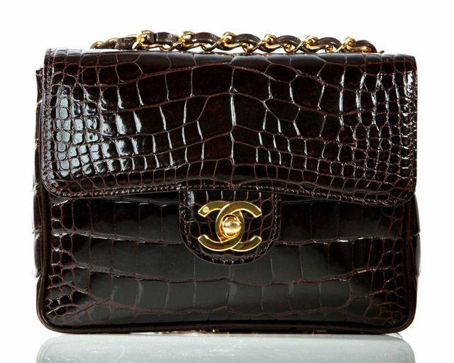 Chanel Classic Flap Crocodile Evening Bag