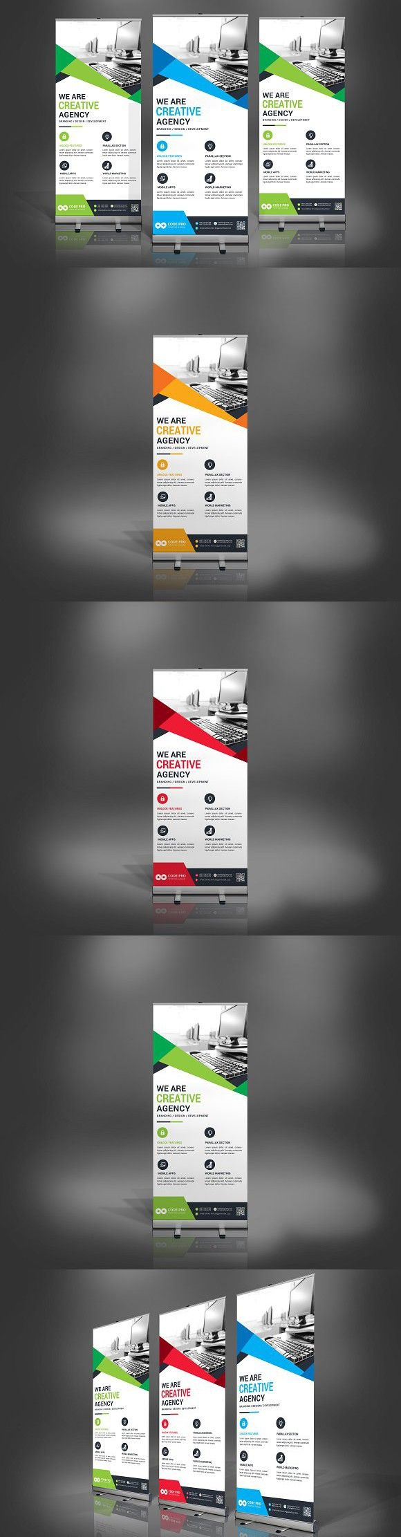 Rollup Banner. Stationery Templates
