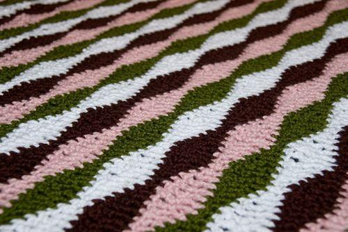 Wavy BlanketCrochet Blankets, Free Pattern, Crochet Afghans, Crochet Projects, Baby Blankets, Afghans Pattern, Crochet Pattern, Wavy Blankets, Blankets Pattern