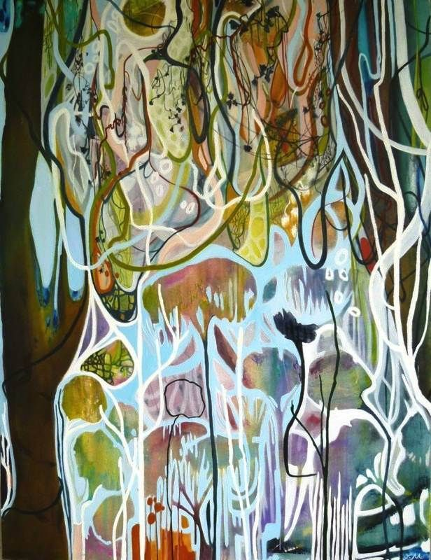 """Tangled"" 120x160cm Lisa Morgan at Tusk Gallery"