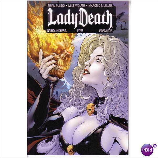 Boundless comics Lady Death Preview comic July 2010 on eBid United Kingdom