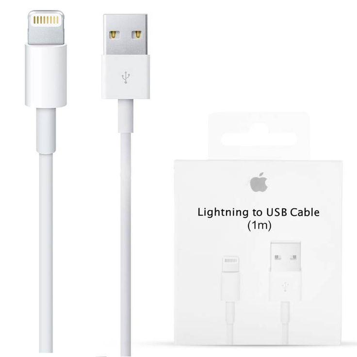 De Apple iPhone 5 / 6 Originele Lightning naar USB-oplaadkabel 1 Meter vind je bij Diamtelecom.com. Heeft u voor 23:00 Besteld? Dan wordt uw bestelling de eerstvolgende werkdag gratis verzonden zonder extra kosten!