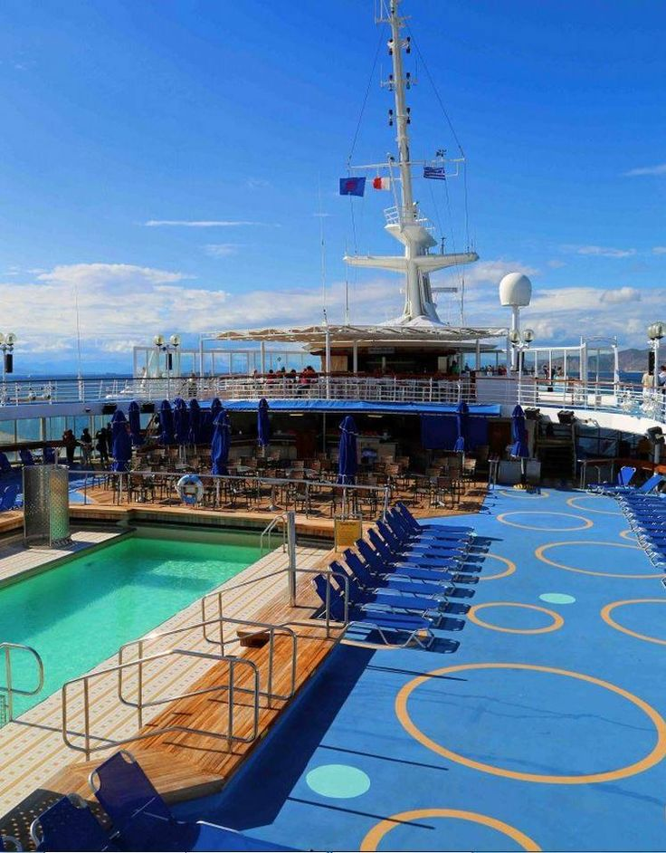 Join us on the pool deck in the morning and enjoy a refreshing early cocktail under the sun! Have a great week! #pool #cocktail #sun #ship #Celestyalcruises Photo credits: Tammilee Tips