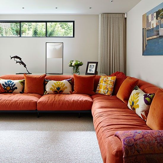 Living Room Ideas Orange Sofa 33 best orange couch images on pinterest | orange couch, home and