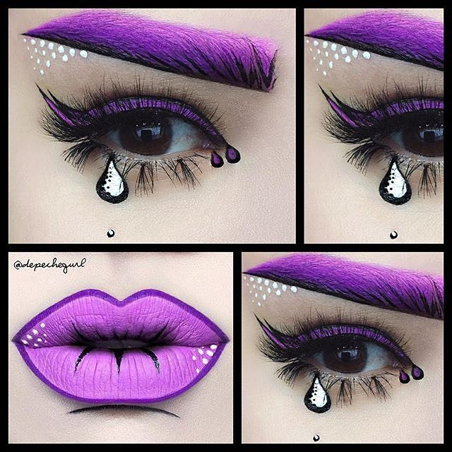 @depechegurl #makeup #colors #purple #popart #makeup #art #popartmakeup #comics #oktaviotorres