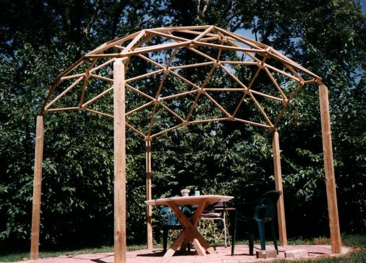geodesic dome pergola