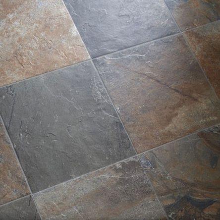 Ceramic Slate Look Tile Foyer Kitchen Floor