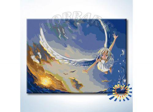 «В полете за мечтой» Картина по номерам, картина-раскраска по номерам, раскраска по номерам, paint by numbers, купить картину по номерам - Zvetnoe.ru - картины по номерам, алмазная мозаика