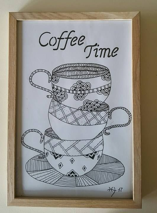 Coffee time tegning
