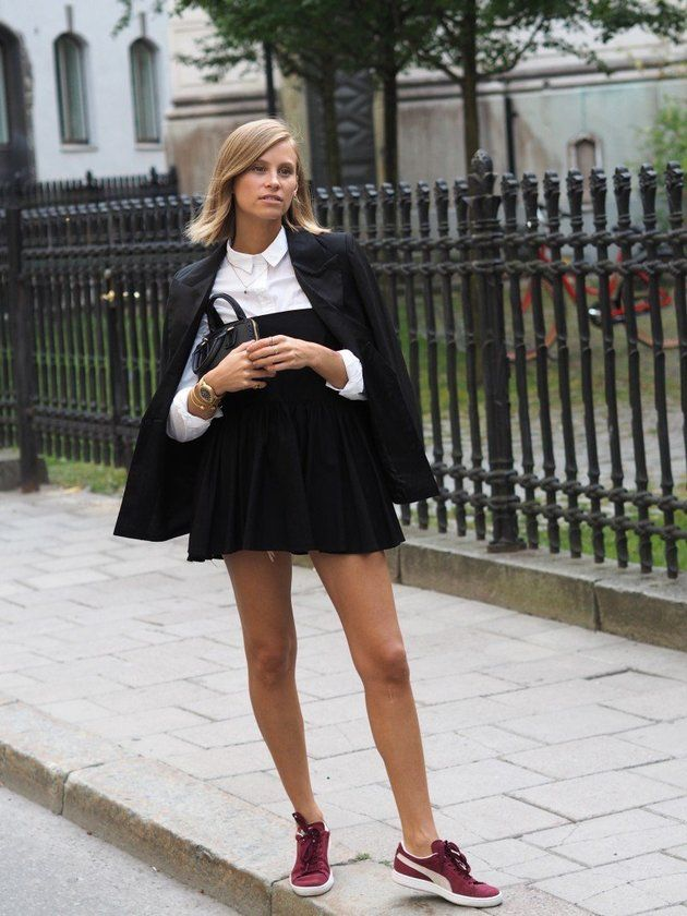 schoolgirl done  right monochromatic/A line cut/ crisp white long sleeve button down shirt/basic color flat